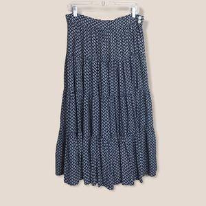 Mondi 80's tiered midi skirt flowy